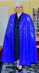 Ingrid022231 (ingrid_bach61) Tags: shiny dress skirt mature button cape through pvc pleated kleid glnzend faltenrock durchgeknpft