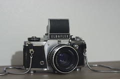 elbaflex__334 (maculatefoto) Tags: germany east finder waistlevel elbaflex vx 1000 exakta 1967 35mm film old allmetal mechanic carl zeiss zebra aus pancolar
