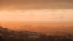 Evening squall - Bermuda (BDA Rebel) Tags: sunset orange rain squall bermuda