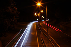Flash (biancaaalberts) Tags: road cars car night lights freeway midnight flashlight zwolle sluitertijd diafragmag