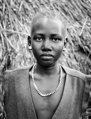 Anuak Tribe (Rod Waddington) Tags: africa portrait people monochrome african refugee traditional tribal afrika ethiopia tribe ethnic ethnicity afrique ethiopian thiopien etiopia ethiopie etiopian anuak demeka