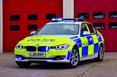 LJ15BVP (firepicx) Tags: blue car lights traffic police alnwick northumberland northumbria bmw parked motor roads emergency saloon unit 999 sirens rpu policing patrols 330d xdrive lj15bvp