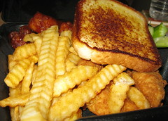 Wings And Things From Zaxby's. (dccradio) Tags: food dinner bread lunch nc northcarolina eat fries meal takeout supper celery chickenwings zaxbys lumberton texastoast crinklefries bbqwings robesoncounty barbecuewings barbquewings