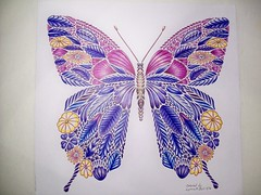 Butterfly (Lynne M. B.) Tags: art butterfly drawing coloring coloredpencils coloringbook