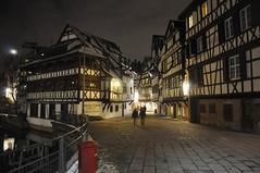 Strasbourg, France (Oleg Doudelzak) Tags: people france night landscape nikon view strasbourg oldtown chanal nikond90