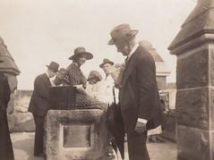 Cataract Dam - Judge Backhouse in foreground 22 April 1922 [RAHS Photograph Collection] (Royal Australian Historical Society) Tags: rahs illawarra rahsconference cataractdam royalaustralianhistoricalsociety judgebackhouse 1922