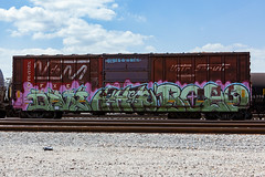(o texano) Tags: bench graffiti texas houston trains bozo freights rtd benching huher
