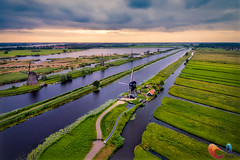 Kinderdijk in the early morning (www.Royz.nl) Tags: dji djiphantom drone kinderdijk quadcopter thenetherlands alblasserdam zuidholland netherlands nl unesco