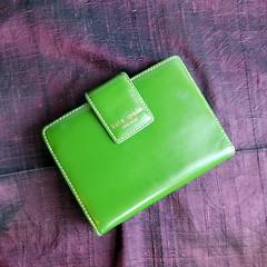 "KATE SPADE Small Kelly Green ""Jane Street Debra"" Personal Planner - Wallet Only (karalennox) Tags: green ebay wallet organizer planner janestreet katespade cardholder applegreen kellygreen"