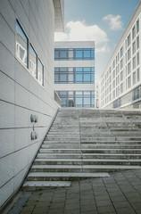 502 (Stadtromantikerin) Tags: city blue urban architecture stairs buildings germany stuttgart geometry gebude geometrie