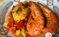 Ricetta dei gamberi e verdure alla curcuma (RicetteItalia) Tags: cucina gamberi ricette zuppe