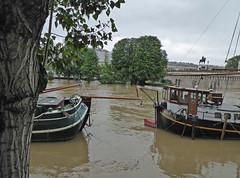 2016.06.02.071 PARIS - La Seine en crue au port des Saints Pres (alainmichot93 (Bonjour  tous)) Tags: paris france seine eau ledefrance bateau fleuve crue laseine 2016
