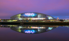 reflections (murphy197) Tags: longexposure colour reflection building architecture river lights scotland clyde glasgow sciencecentre