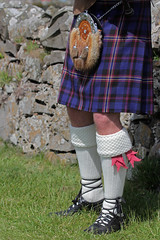 Waiting for a tail wind (Finding Chris) Tags: holyisland lindisfarne bagpipes piper sporan kilt northumberland tartan