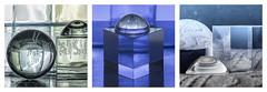 Triptico: Situaciones con el Flash. (Chechi Pe) Tags: blue light stilllife reflection art luz glass digital speed photography photo nikon triptych dof bokeh air flash fineart sb600 sphere cube refraction series nikkor bodegon triptico d610 creativeimages amazingphotos triptyches