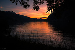 Walensee Sunset (Daniel.Peter) Tags: sunset lake schweiz switzerland see sonnenuntergang walensee dpe3x