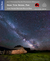 Historic Moulton Barn's Milky Way (Jerry T Patterson) Tags: longexposure way snowy wildlife barns moose jackson astrophotography snakeriver wyoming elk grizzly bison tours jacksonhole anseladams workshops wy moulton mormonrow antelopeflats moultonbarn phototours skymilky photographyworkshopsnight