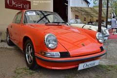 Porsche 911 E 2.0L 1969 (Monde-Auto Passion Photos) Tags: auto orange france automobile 911 porsche coup vente moretsurloing enchre osenat