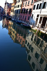 More Reflections in Venice (Crumblin Down) Tags: world city blue venice shadow sky italy panorama white color colour reflection green tower clock church water beautiful st statue skyline square gris mirror climb canal marine san colorful italia pattern ship view display bell mark top basilica library military navy lion sailors grand arches books panoramic belltower clocktower marks campanile most tables marco gondola colourful venezia viewing overhead verdi amerigo vespucci