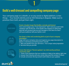 Linkedin Marketing Guide: Company Page (Social Media & Content Curation Platform) Tags: design marketing media flat content social monitor company guide groups linkedin analytic marketingguide infographs drumup