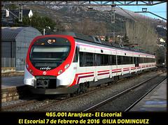 idn6415 (ribot85) Tags: 465001 465 civia caf alstom tren trenes trains train railways renfe railroad cercanias cercaniasmadrid preserie escorial elescorial