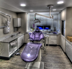 He Will See You Now (Oybon) Tags: chair xray nightmare mad dentist hdr autopano