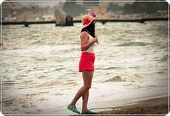 Black Sea: Alone (Ioan BACIVAROV Photography) Tags: girls sea summer woman flower sexy beach girl beautiful hat fashion wonderful interesting glamour women legs moda fete mode fille blacksea filles photostream fata mamaia wonderfulphoto ioanbacivarov bacivarov