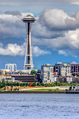 Seattle-Space-Needle-Portrait-7-9-16-HDR-Fused (Rob Green - SmokingPit.com) Tags: seattle city trip cruise sea green tourism water wall skyline architecture buildings island bay pier boat washington downtown day village waterfront view place pacific northwest bright market outdoor good space shoreline fair front tourist rob needle ii sound worlds boating vehicle wa times pike elliot blake 55 eliot 54 hdr puget attractions saltwater tillicum argosy trp cemter