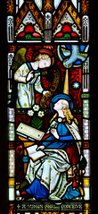 Shepton Beauchamp - North Sanctuary Window - Annunciation (David Cronin) Tags: street gabriel glass michael mary somerset stainedglass stained virginmary annunciation sheptonbeauchamp saintmichael gestreet saintmichaelandallangels