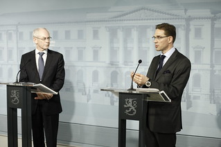 European Council President Van Rompuy in Finland
