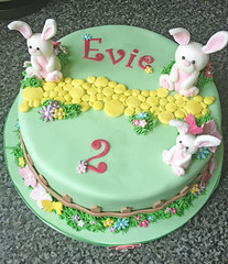 Bunny Garden Birthday Cake
