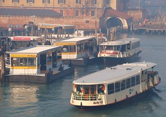 Vaporetto Traffic at Piazzale Roma - Venice (Gilli8888) Tags: venice italy lagoon grandcanal veneto boats vaporetto piazzaleromapiazza actv actv10actv21 vaporettostop marine canal