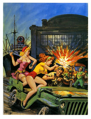 Nazis, Eat Lead! (In Memoriam: paul.malon) Tags: 1969 nazis ww2 1960s combat normansaunders scannedandretouchedbypaulmalon mensadventuremagazineillustrations