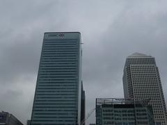 Canary Wharf's skyscrapers (Gene Hunt) Tags: geotagged poplar canarywharf tfl onecanadasquare towerhamlets hsbctower poplardlrstation 2013 8canadasquare londone14 panasonicdmctz20
