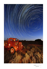 Leaghur StarTrails (heritagefutures) Tags: world park school red sky cliff lake heritage station night stars star site university cross arnold lakes trails australia charles southern management national nsw area residential constellations mungo pkm distributor willandra sturt 397 balranald leaghur pkm397