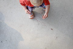 365 Day 138 (Annie Otzen Photography) Tags: boy nature wonder outside outdoors stick 365 examine inspect project365