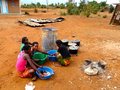 women preparing a big lunch (theancientpath) Tags: poverty school village hunger madagascar cyclone nutrition malnourishment mikea