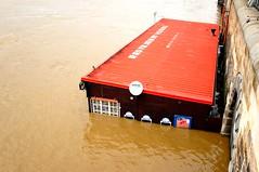 Restaurant Vltava (aclay) Tags: river restaurant prague praha czechrepublic vltava floods 2013 povodn