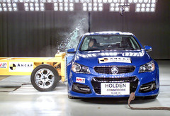 ANCAP MDB crash test Holden VF Commodore (APVTechCentre) Tags: motion slow melbourne phantom highspeed holden apv crashtest ancap mdb apvtechcentre vfcommodore
