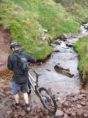 Tricky stream crossing on the approach to the Gap (neil.finnes) Tags: dorset rough brecon beacons riders