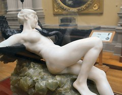 Desiré Maurice Ferrary (1852-1904) - Leda and the Swan (1898) right, Lady Lever Art Gallery, Port Sunlight, Cheshire, June 2013 (ketrin1407) Tags: