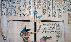 Hunefer's Book of the Dead, detail of Ma'at