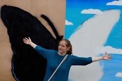 One Day I'll Fly Away (Roel Wijnants) Tags: art graffiti stencil fotografie denhaag l thehague vlinder bekende haags hofstad roel1943 roelwijnants hofstijl roelwijnantsfotografie haagseportretten haagspraak