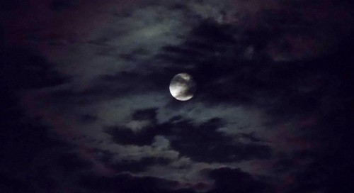 Clouds Across the Moon