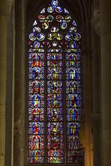 Baslica de Sants Nazari i Cels (s XI i XIV). Carcassona (Claudi.cat) Tags: francia carcassonne carcassona carcasona basiliquesaintsnazaireetcelse vitrall languedocroselln sxiixiv baslicadesantsnazariicels