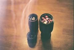 *** (Justin Wolfe) Tags: wood light classic analog 35mm canon vintage lens table soft natural kodak ae1 bokeh naturallight lightleak 35mmfilm analogue canonae1 vivitar timeless imperfection lenses classy cameralenses kodakektar100