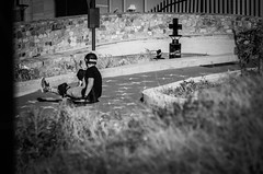 At the Donkin (Gavin Booyens) Tags: blackandwhite bw slide 1855mm sliding freeride easterncape portelizabeth longboarding infraredfilter pentaxk5