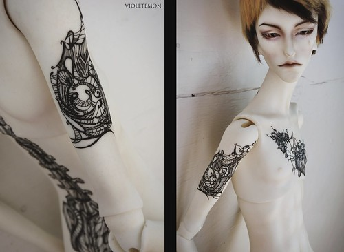 """make-up&tattoo for Cyril [Doll-chateau] • <a style=""""font-size:0.8em;"""" href=""""http://www.flickr.com/photos/67111078@N05/9660012555/"""" target=""""_blank"""">View on Flickr</a>"""