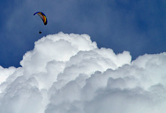 Soaring... (arbyreed) Tags: clouds soaring gliding paraglider cascademountain cumulusclouds utahcountyutah arbyreed utahparagliding