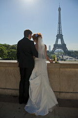 DSC_8551 (Andrey_Malgin) Tags: wedding summer white black paris tower love beautiful beauty seine bride couple dress happiness husband eiffel wife romantic suite mariage bridegroom trocadero